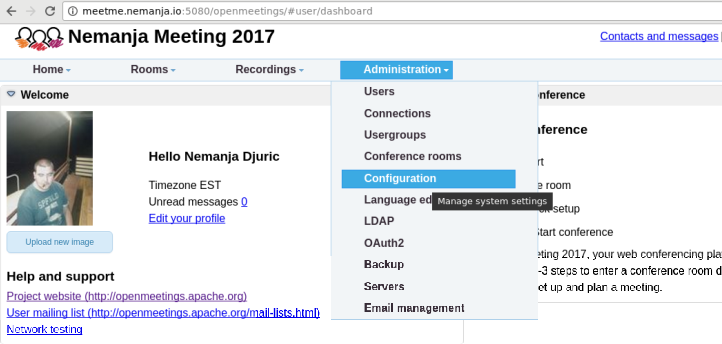 Your own Conference software -- Apache Open Meeting